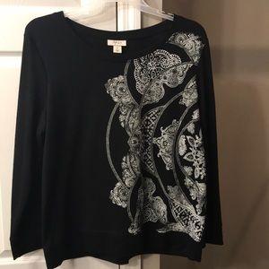 Style & Co XL Black/White sweatshirt